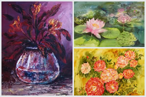 Indiaart - Flowers Paintings