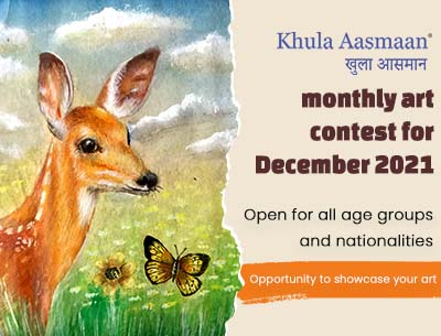 Participate in Khula Aasmaan monthly art contest