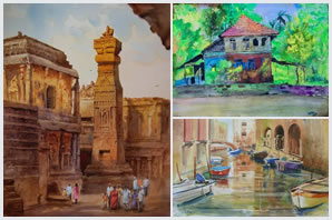 Indiaart - Watercolour Paintings