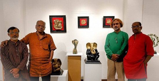 Pictures from Ganapati - An exclusive exhibition of 51 bronze Ganesha sculptures by 5 sculptors