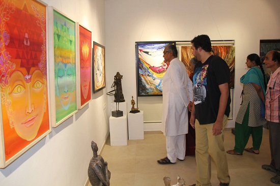 Pictures from the inauguration of the exhibition - Yoga and Realisation