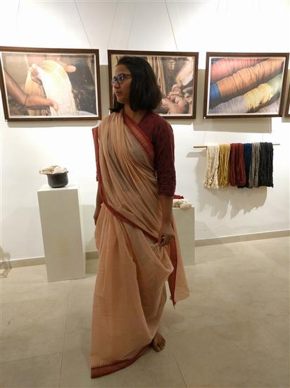 Saree Draping Demonstration at Indiaart Gallery