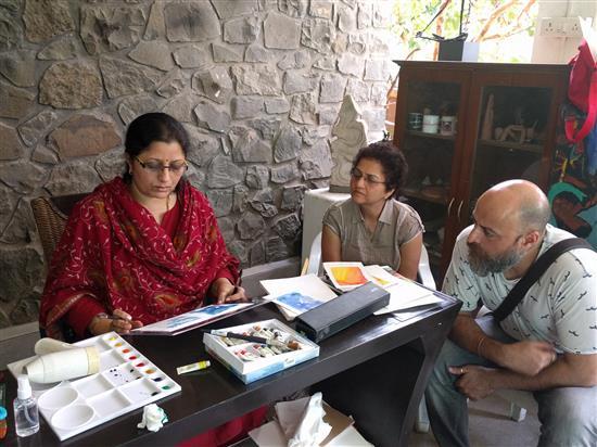 Watercolour Painting Workshop at Indiaart Gallery