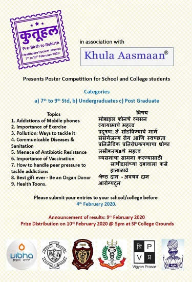 Poster Competition by Khula Aasmaan ad Kutuhal