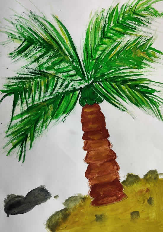 My Favorite Tree, painting by Mehak Rampure (born 2005)