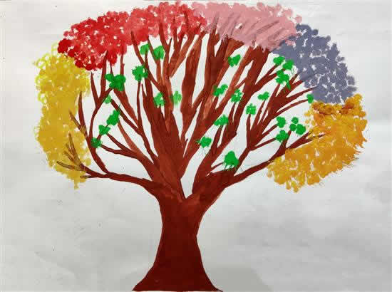 My Favorite Tree, painting by Milan Prakriti Manish (born : 2007)