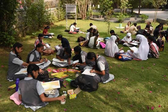 Painting Competition at University Garden - 8