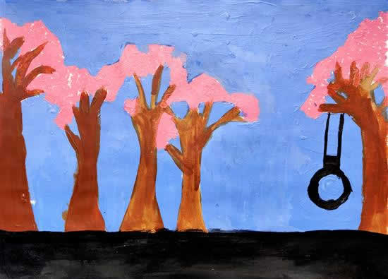 My Favorite Tree, painting by Saloni Yeole (born : 2007)