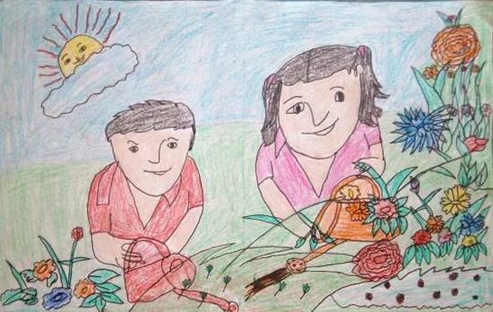 Simran (8 years), Teek, Haryana