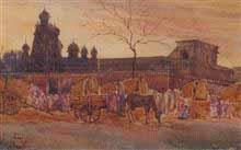 Evening - Wai Painting by D. C. Joglekar