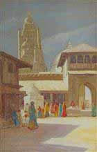 Holy Temple, Dakore Painting by D. C. Joglekar