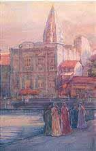 Mumbadevi Temple - Bombay, Painting by D. C. Joglekar