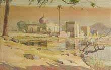 Reflection, Painting by D. C. Joglekar