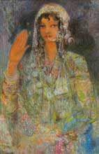 Kashmir Ki Kali, Figurative Painting by D. J. Joshi, Oil on Canvas, 20.5 X 30.5 inches
