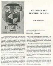 An Indian Teacher in USA, Articles - G. K. Deshpande