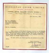 Hindustan Lever 1957, Testimonials - G. K. Deshpande