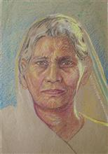 Mother, painting by H.C. Rai