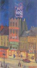 City at night, Painting by J D Gondhalekar