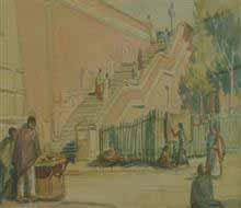 The Stairs, Painting by J D Gondhalekar
