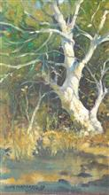 The Bare Branches,  Painting by John Fernandes
