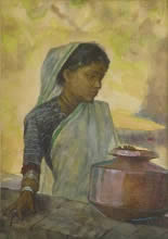 Chilim, Painting by N. R. Sardesai