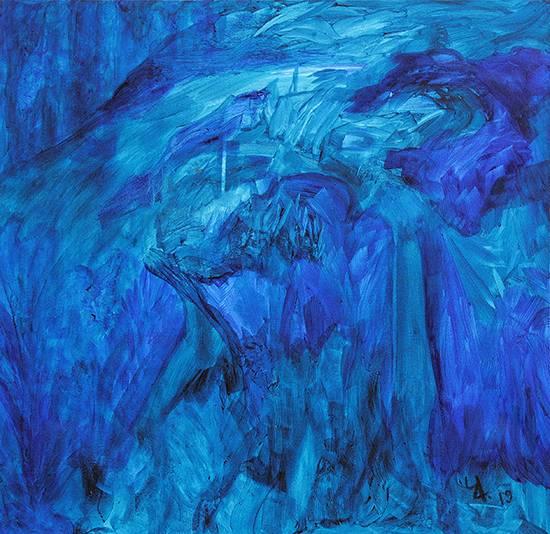 PBJ Abstract - 240, Painting by Prakash Bal Joshi