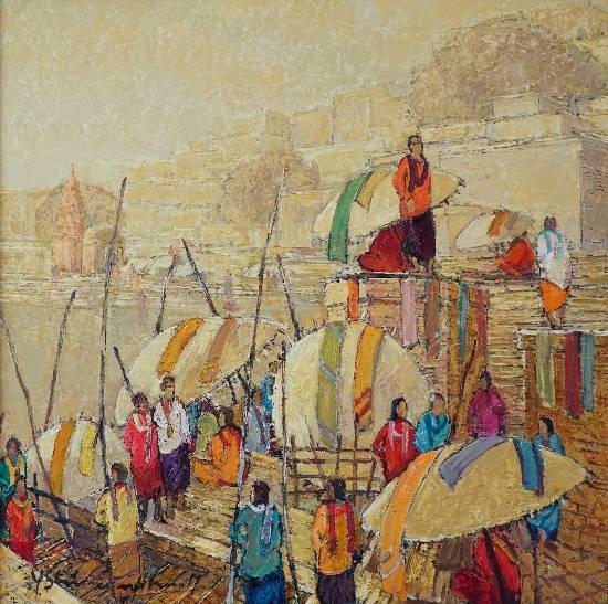 Banaras - 43, painting by Yashwant Shirwadkar