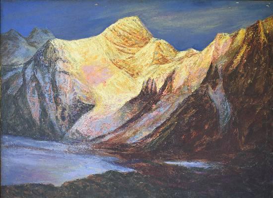 Himalaya collection - 13, painting by Kishor Ranadiwe