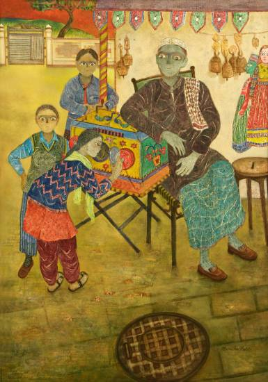 The Dream seller, painting by Manisha Patil