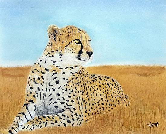 Solace, painting by Varjavan Dastoor