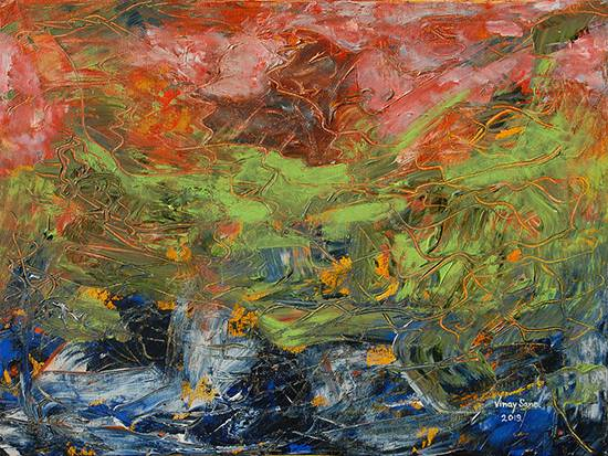 Turbulence, painting by Vinay Sane