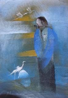 Passenger, Painting by Artist Bhawana Choudhary