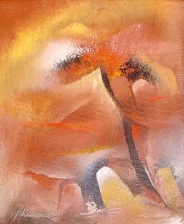 White Stone, Painting by Artist Bhawana Choudhary