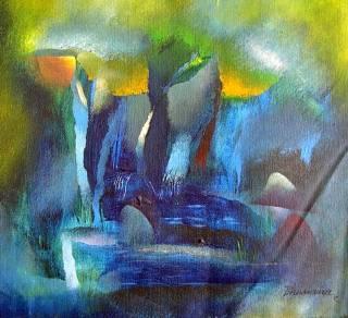 Winter, painting by Bhawana Choudhary