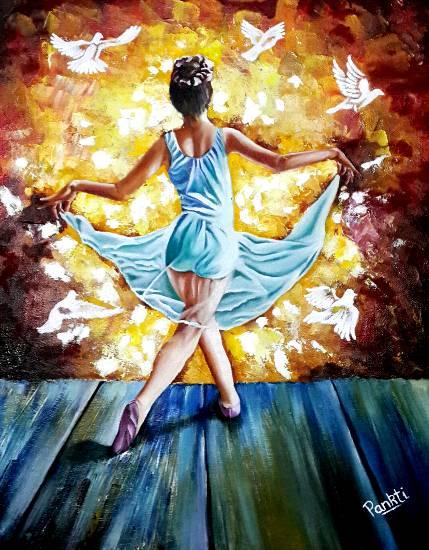 Happiness Way, painting by Pankti Jain