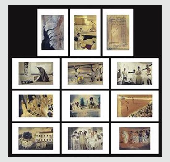 Re-Imagining Bapu, print by Atul Dodiya