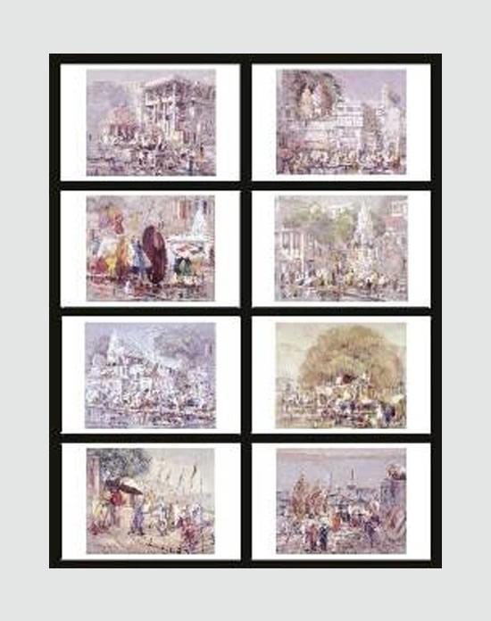 Banaras, print by Yashwant Shirwadkar