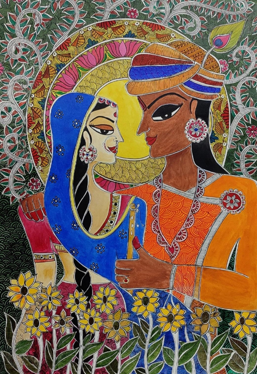 The Eternal Lovers, Painting by Nehal Shah